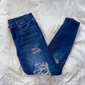 Vigoss Marley Mid Rise Distressed Skinny Jeans